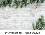 christmas background. toys and... | Shutterstock . vector #708530326