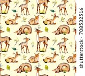 seamless pattern with... | Shutterstock . vector #708532516