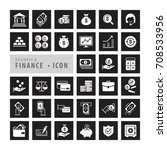 business finance icons set ... | Shutterstock .eps vector #708533956