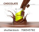 chocolate package mock up... | Shutterstock .eps vector #708545782