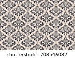 seamless ornament on background.... | Shutterstock .eps vector #708546082