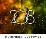 2018 happy new year background... | Shutterstock .eps vector #708549496