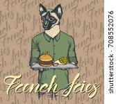 fast food vector concept.... | Shutterstock .eps vector #708552076