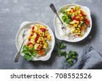 vegetarian vegetable fajitas... | Shutterstock . vector #708552526