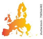 european union territory.... | Shutterstock .eps vector #708566482