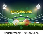 american football field with... | Shutterstock .eps vector #708568126