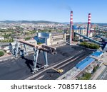power station aerial view | Shutterstock . vector #708571186