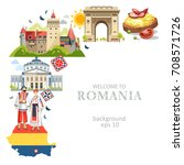 romania background with...