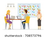 office kanban planning system   ...   Shutterstock .eps vector #708573796