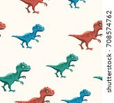 cartoon seamless pattern with... | Shutterstock .eps vector #708574762
