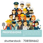 people occupation characters... | Shutterstock .eps vector #708584662