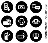 set of simple icons on a theme... | Shutterstock .eps vector #708584812