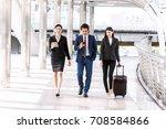 group of  business team walking ... | Shutterstock . vector #708584866