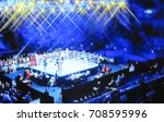 blurred background. boxing ring ... | Shutterstock . vector #708595996