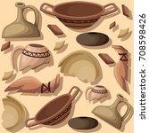 archeology and paleontology... | Shutterstock .eps vector #708598426