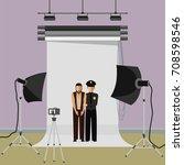 terrorist arrested photo in... | Shutterstock .eps vector #708598546