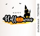 happy halloween design... | Shutterstock .eps vector #708598648