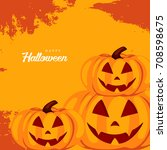 happy halloween design... | Shutterstock .eps vector #708598675