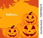 happy halloween design... | Shutterstock .eps vector #708598675