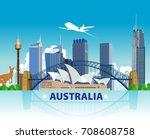 Australia Skyline And Landmark...