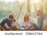 Group Of Friends Relaxing The...