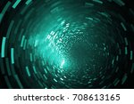 Glittering Swirl. Abstract Teal ...