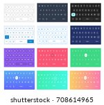 set of vector qwerty mobile...
