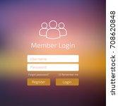 member log in blue user... | Shutterstock .eps vector #708620848