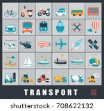 set of transportation icons.... | Shutterstock .eps vector #708622132