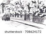 urban sketch | Shutterstock . vector #708624172