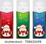 santa claus banners | Shutterstock . vector #708632698