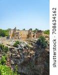 kanlidivane ancient city.... | Shutterstock . vector #708634162