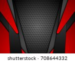 abstract red and black contrast ... | Shutterstock .eps vector #708644332