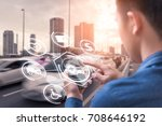 the abstract image of business... | Shutterstock . vector #708646192