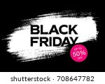 black friday sale banner | Shutterstock .eps vector #708647782