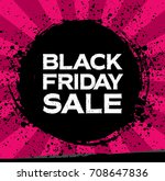 black friday sale banner | Shutterstock .eps vector #708647836
