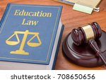 a law book with a gavel  ... | Shutterstock . vector #708650656