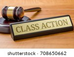 a gavel and a name plate with... | Shutterstock . vector #708650662