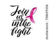 breast cancer awareness... | Shutterstock .eps vector #708659206