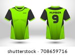 green and black layout football ... | Shutterstock .eps vector #708659716