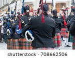 Pipe And Drum Band Performing...