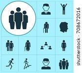 people gender icons set.... | Shutterstock .eps vector #708672016