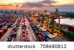 logistics and transportation of ... | Shutterstock . vector #708680812