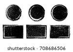 vector grunge shapes.grunge... | Shutterstock .eps vector #708686506