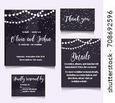wedding invitation template... | Shutterstock .eps vector #708692596