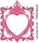 round photo frame metal red... | Shutterstock .eps vector #708698626