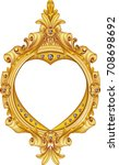 antique golden frame isolated... | Shutterstock .eps vector #708698692