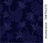 monotone vector seamless... | Shutterstock .eps vector #708701272