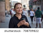 nice portrait of a middle aged... | Shutterstock . vector #708709822