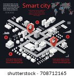 smart city isometric... | Shutterstock .eps vector #708712165